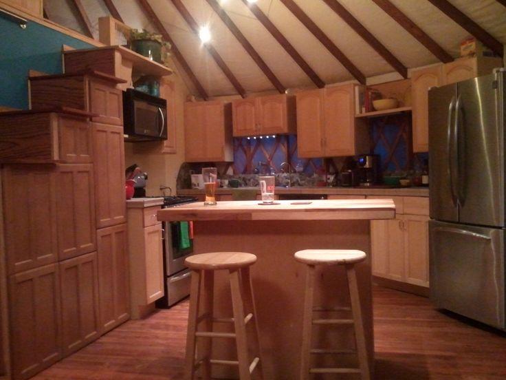 yurts kitchens and yurt interior on pinterest On yurt kitchen ideas