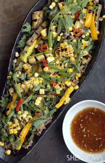 ... dish with this grilled veggie salad with Asian fish sauce vinaigrette