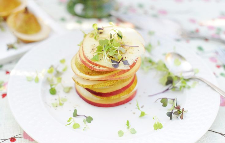 apple, pear and fennel towering salad | Salad | Pinterest