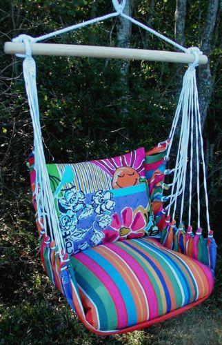Outdoor indoor hammock swing chair w tote dorm kids room for Hanging chair for dorm