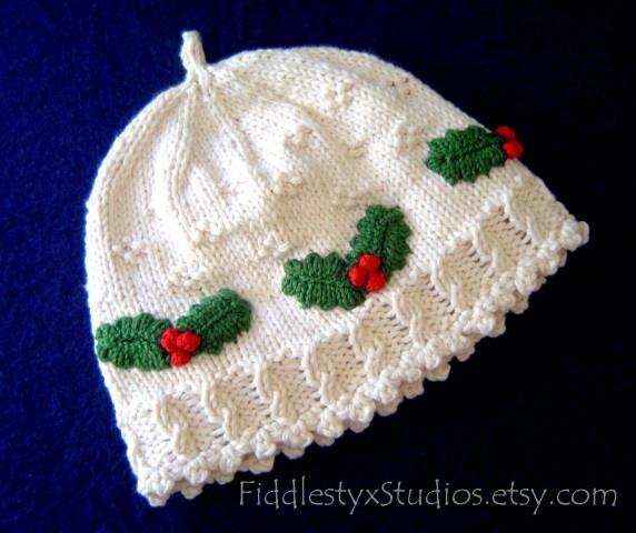 Baby Christmas Hat Knitting Pinterest