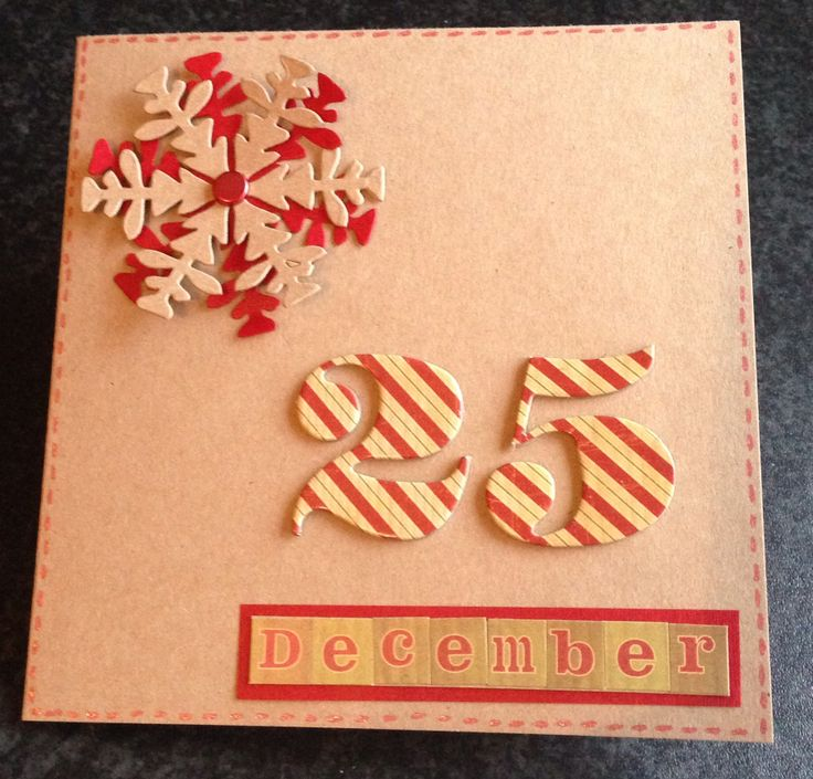 Handmade Christmas Card for a friend