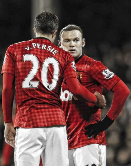 Wayne Rooney And Robin Van Persie