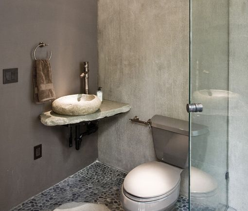 Small Bathroom With Custom Made Sink Small Apartment Pinterest