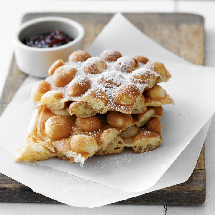 "Hong Kong favorite, the puffy, doughy ""egg waffles"" are ..."