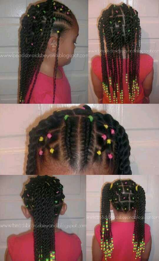 Crochet Box Braids With Rubber Bands : Simple Hair dos from an easy cornrow/braid box braid style. Great ...