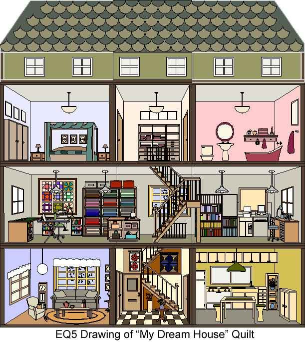 my dream house quilt house plans pinterest