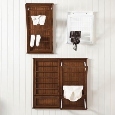 Nursery Decor/Storage: Beadboard Drying Rack  | Ballard Designs.  Great for storing baby blankets and hanging cute outfits or decorative baskets/containers!