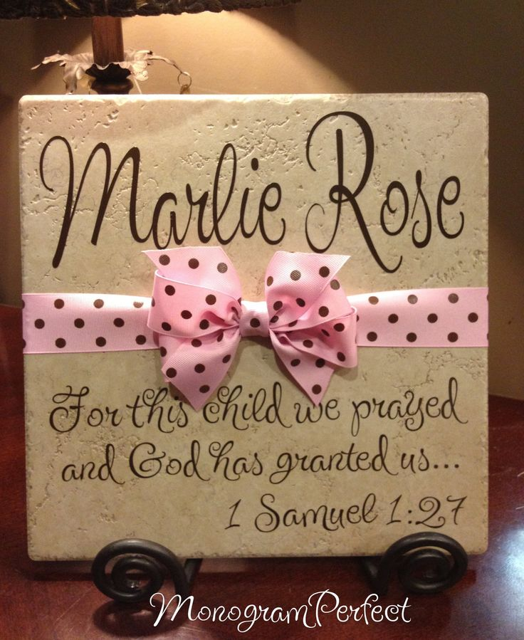 Baby Gift Ideas Personalized : Personalized adoption gift or baby shower decorative tile