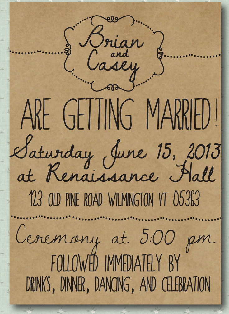 Illustrated Whimsy Hand Drawn Style Printed Wedding Invitation