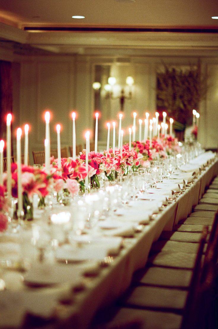 elegant taper candle centerpiece