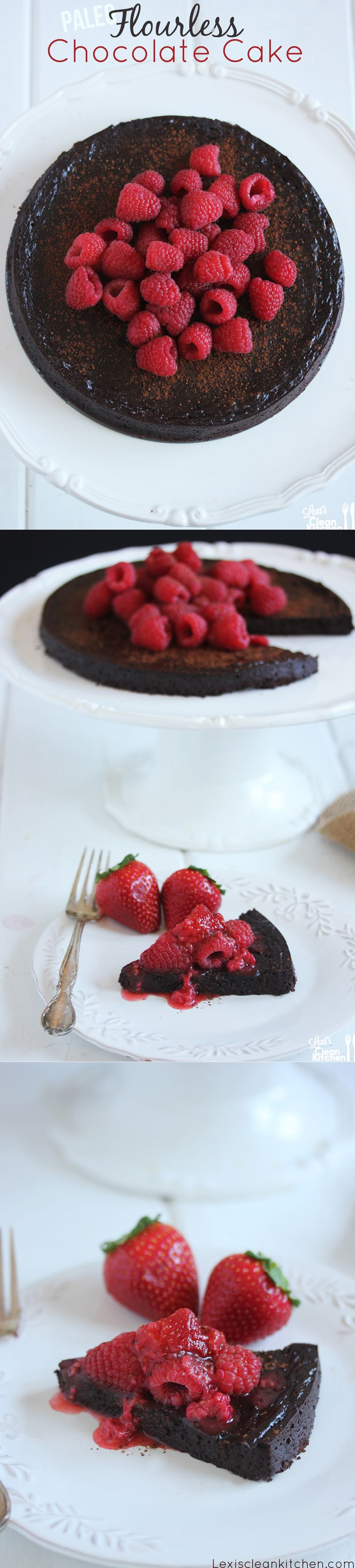 Perfect Valentine's Day Dessert! Paleo Flourless Chocolate Cake {with ...
