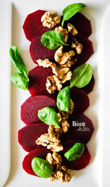 Beets, spinach and walnuts. Three of my favorite things.