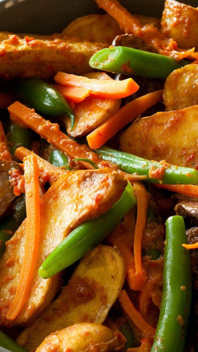 New Potato Rendang & Green Beans | Food | Pinterest