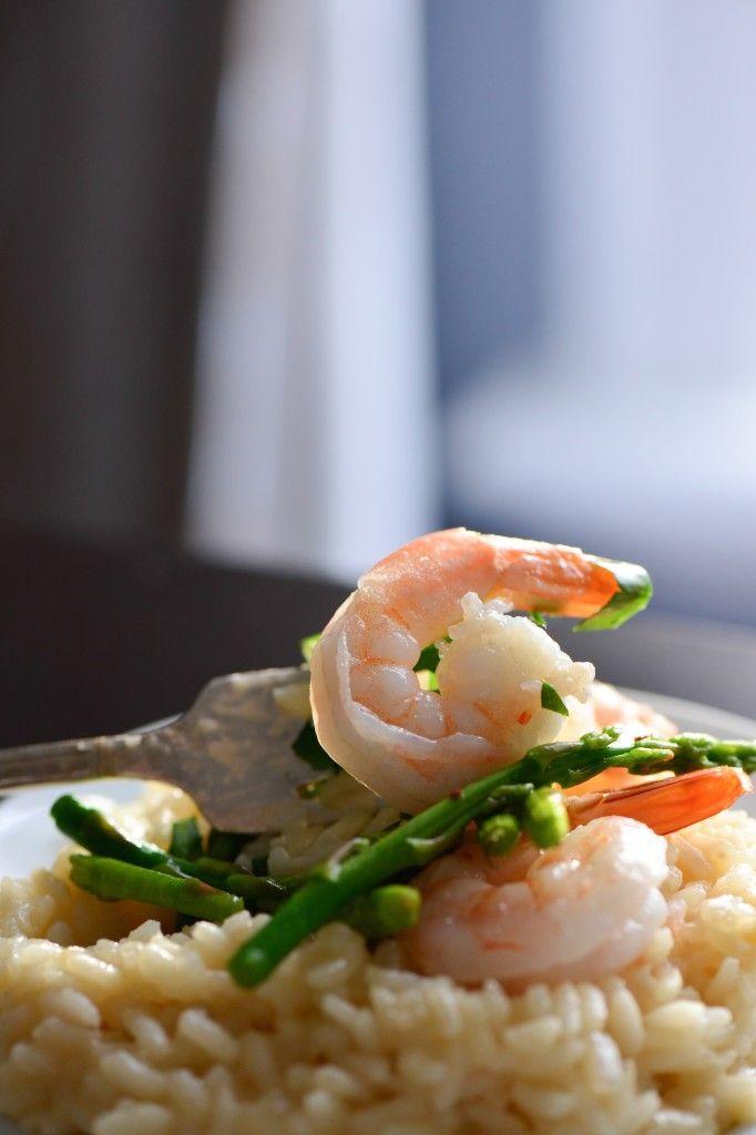 Shrimp and Asparagus Risotto - Culinary Mamas