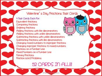 valentine's day 4th grade math
