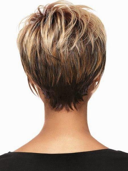 Фото женских стрижек на короткие волосы вид спереди и сзади