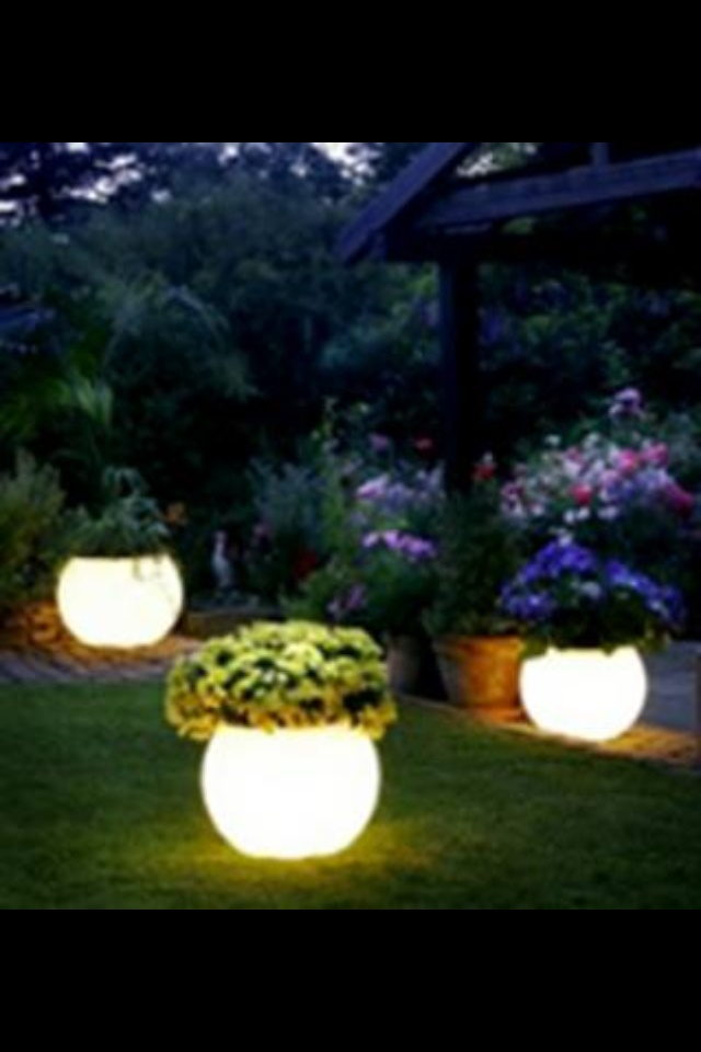planters painted with glow in the dark rust oleum paint. Black Bedroom Furniture Sets. Home Design Ideas