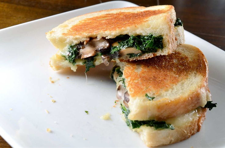 Robiola, Roasted Garlic and Kale Grilled Cheese | Recipe