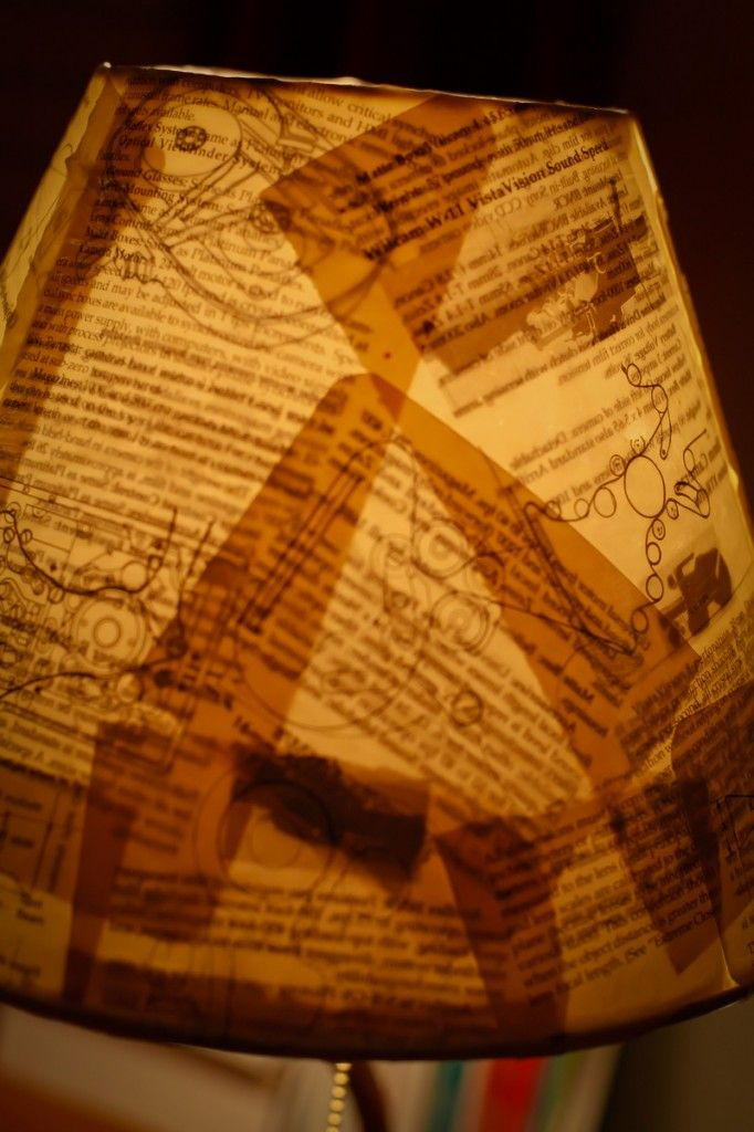 Diy lamp shade from book pages homemade pinterest - Diy uses for old books ...