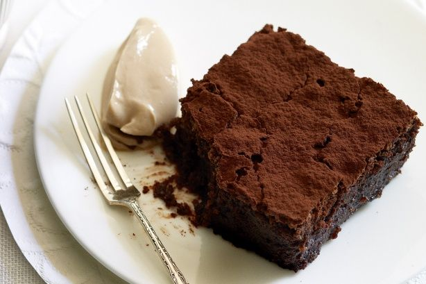 Flourless Chocolate Brownies- 2 pastured free-range eggs, 3/4 cup cane ...