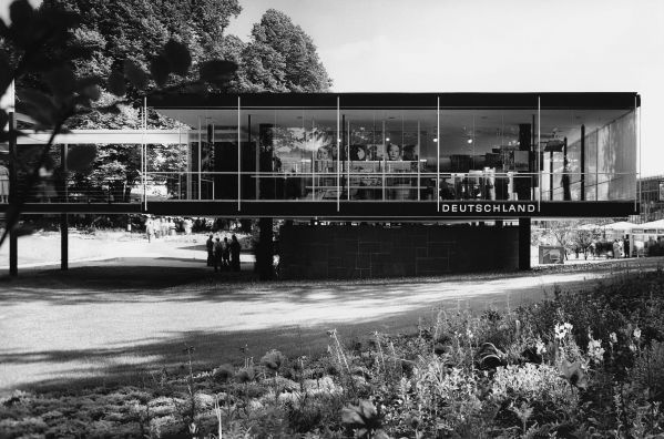 German pavilion at the world expo, Brussels, 1958