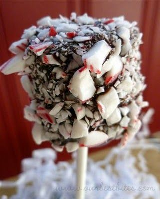 Chocolate dipped marshmallows
