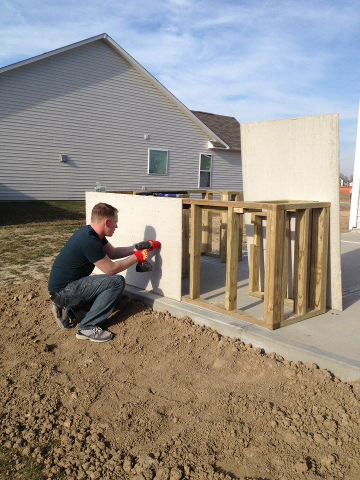 Outdoor Kitchen Diy Step By Step Outside Pinterest