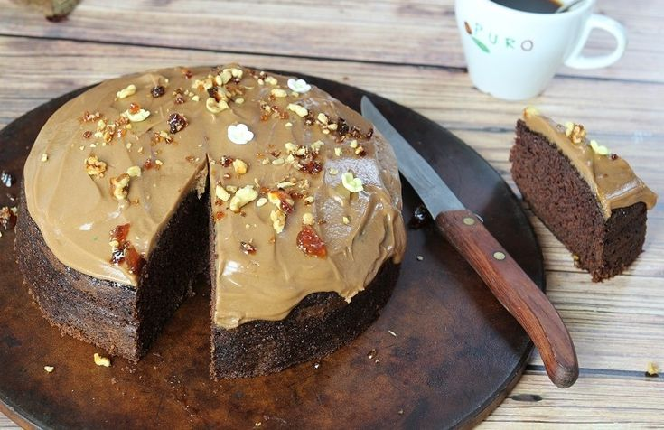 Chocolate Coffee Cake with Coffee Icing | Recipe