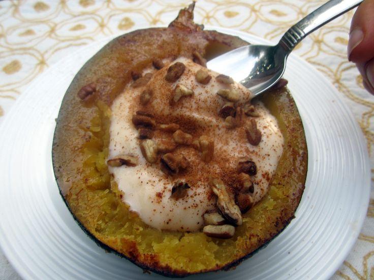 Acorn squash greek yogurt
