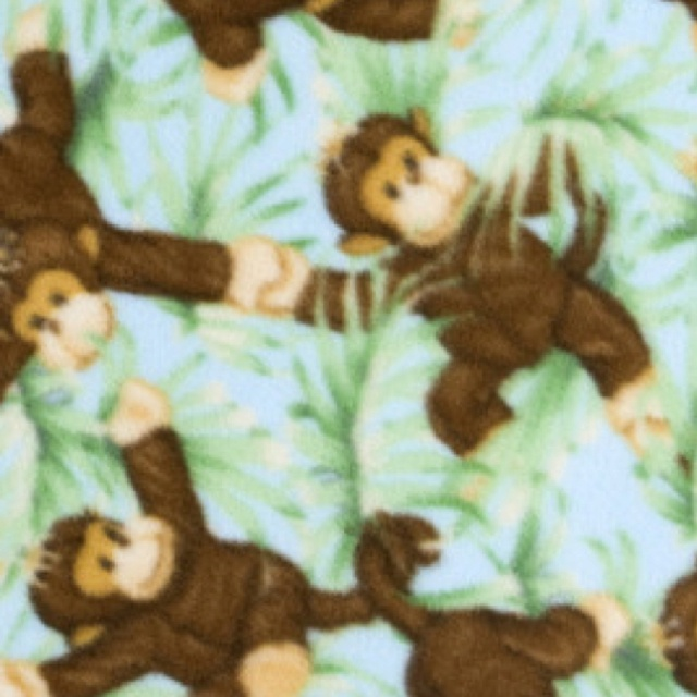 Monkey fabric images frompo for Baby monkey fabric prints