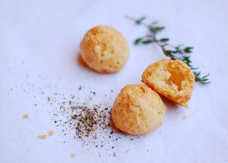 Thyme and Gruyere gougeres! | Cheese | Pinterest