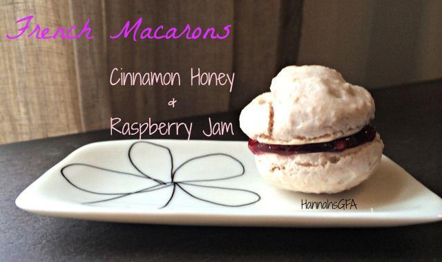 French Macarons two ways! Cinnamon Honey and Raspberry Jam!