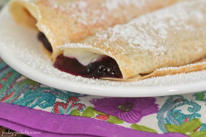 Creamy Lemon Blueberry Crepes - Picky Palate OH YUM. Chris's birthday ...
