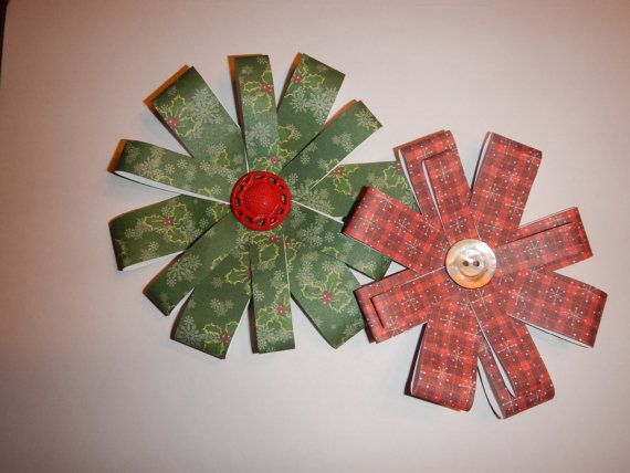 Handmade Paper Christmas Gift-Wrap Bows on Etsy, $3.50