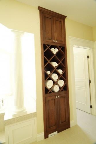 bathroom towel cabinet for the home pinterest. Black Bedroom Furniture Sets. Home Design Ideas
