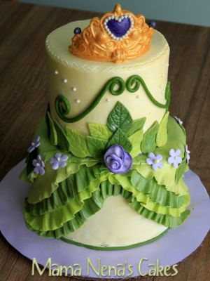 Top Princess cakes from Cake Central.....several to look at....such as this one.  Princess Tiana from Princess and the Frog