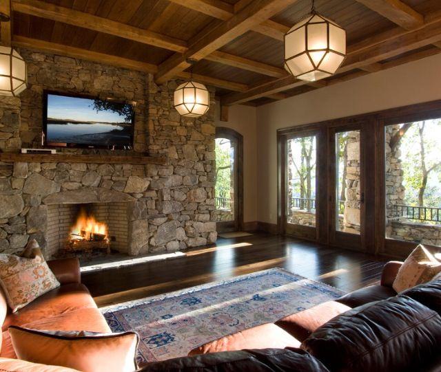 Rustic Stone Fireplace Reno Ideas Pinterest