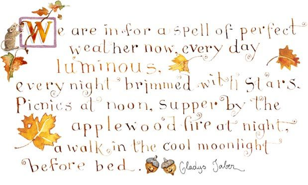 Gladys Taber quote illustrated by Susan Branch