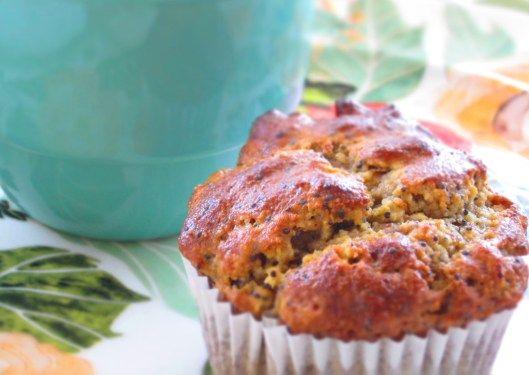Poppy Seed Muffins gluten & dairy free makes 6 muffins