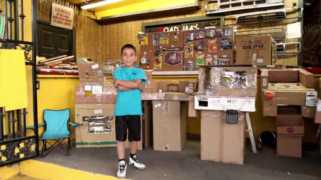 Caine's Arcade - 9 year old boy who built an elaborate cardboard arcade inside his dad's used auto parts store. http://cainesarcade.com/