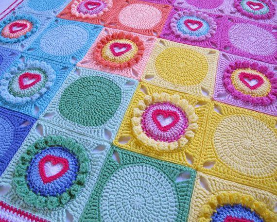 CROCHET PATTERN - Follow Your Heart - a blanket with ...
