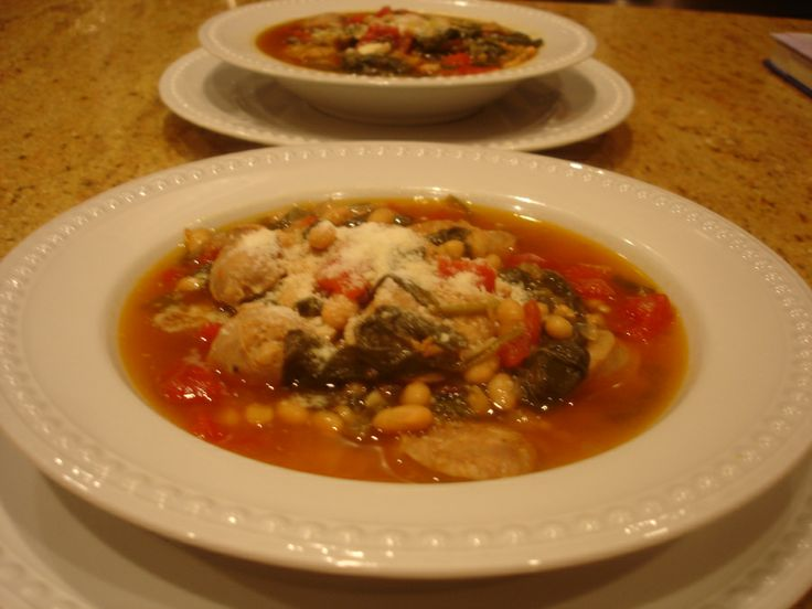 sausage and navy bean soup