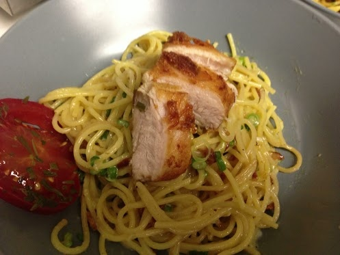 Spaghetti Carbonara With Pork Belly And Fresh Peas Recipe — Dishmaps
