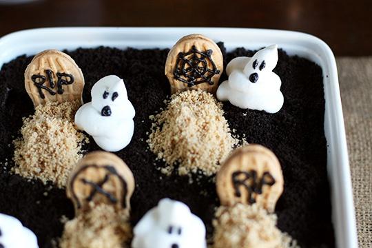 Peanut Butter & Chocolate Graveyard Dirt Cake | Recipe