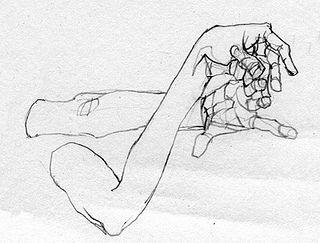 dibujar pose cogiendose las manos