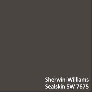 Sherwin Williams Sealskin Sw 7675 Hgtv Home Pinterest