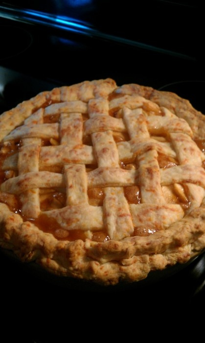 Apple Pie with Cheddar cheese crust recipe courtesy of Joy of Baking