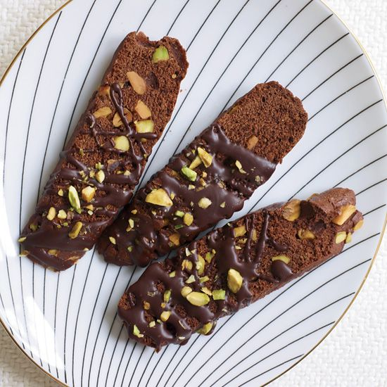 Chocolate-and-Pistachio Biscotti // More Biscotti Recipes: http://www ...