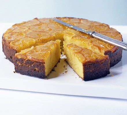 Sticky clementine cake with cheesecake cream - this reminded me of ...